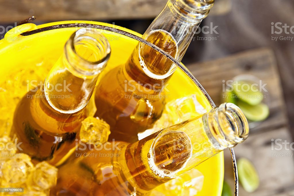Bucket of Beer stock photo