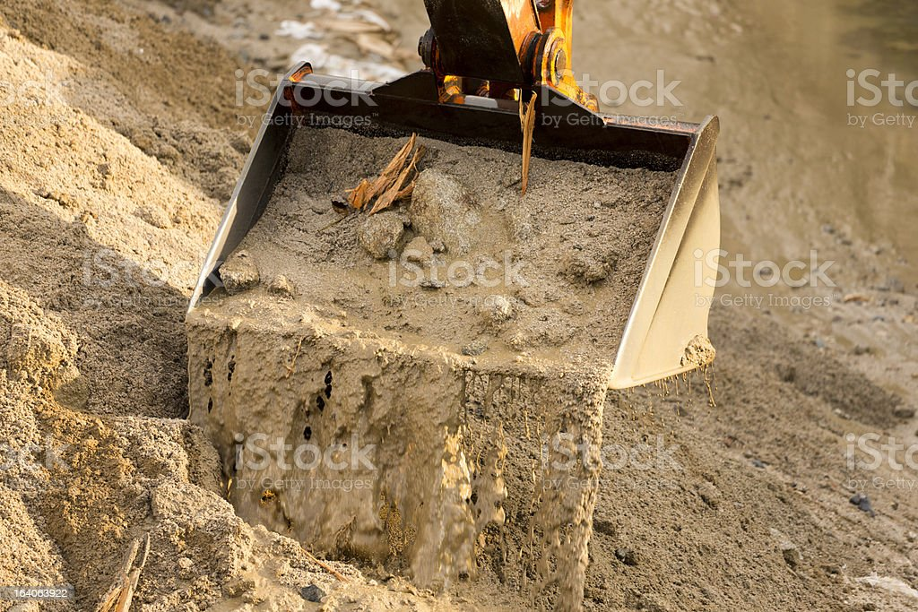Bucket of Digging Crane royalty-free stock photo