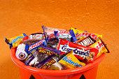 Bucket of Halloween Candies