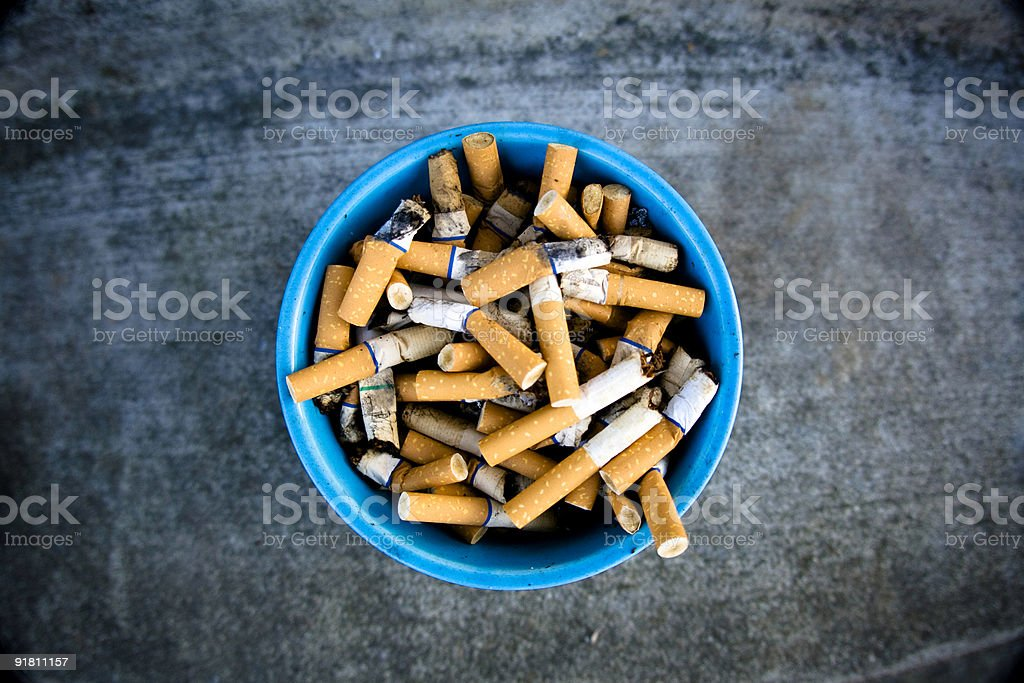 Bucket of smokes stock photo