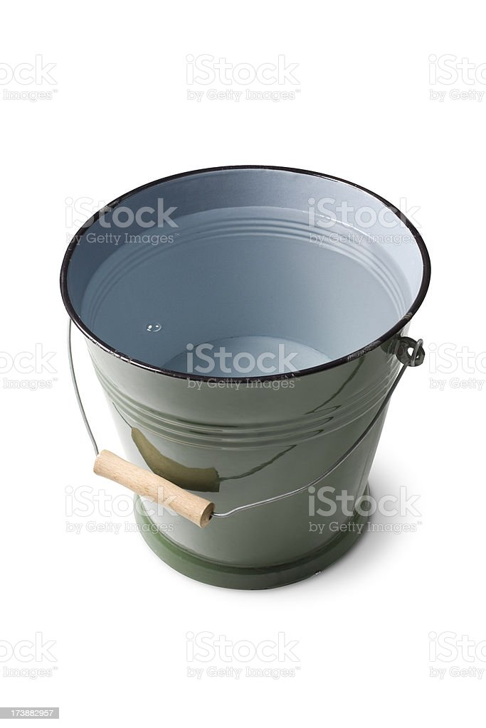 Bucket of water stock photo