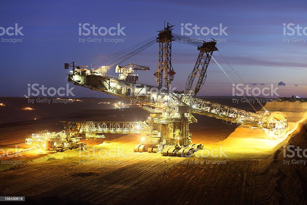 bucket wheel excavator royalty-free stock photo