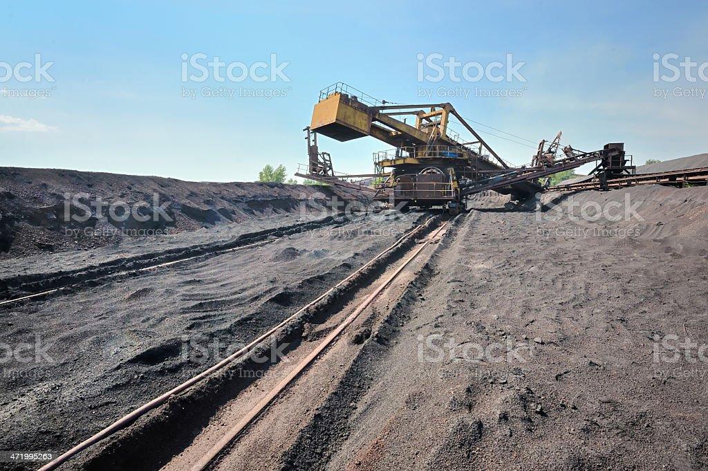 Bucket wheel excavator stock photo