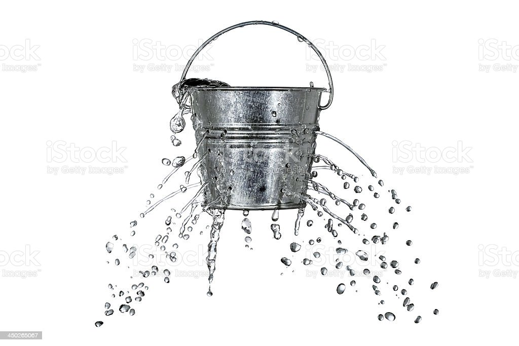 bucket with holes royalty-free stock photo