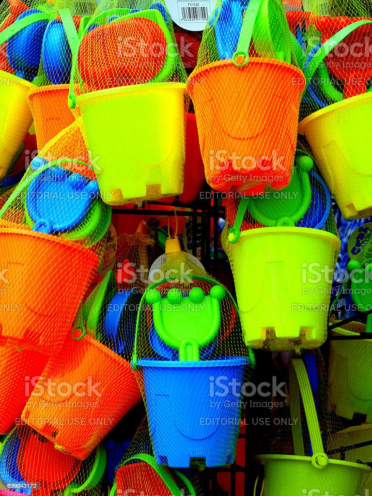 Buckets and Spades. stock photo