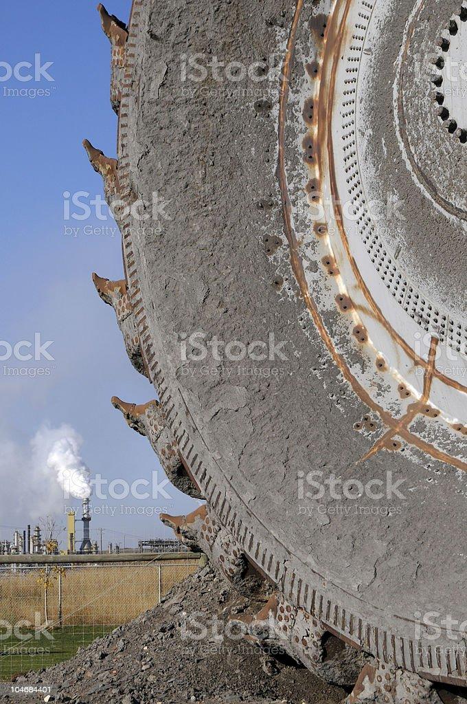Bucketwheel excavator stock photo