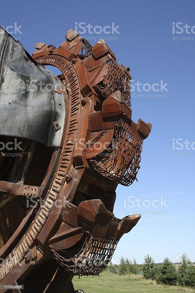 Bucket-wheel excavator stock photo