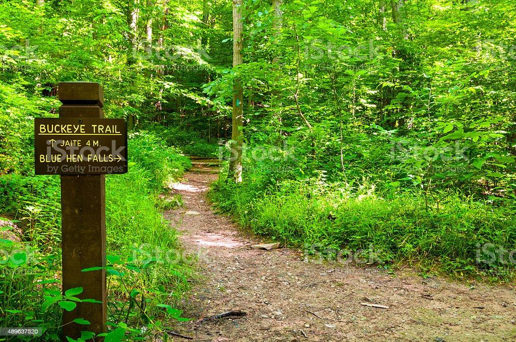 Buckeye Trail marker stock photo