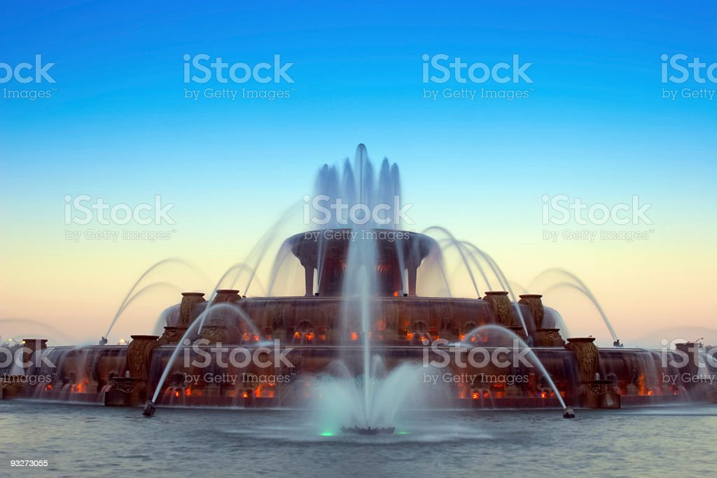 Buckingham Fountain at Sunset royalty-free stock photo