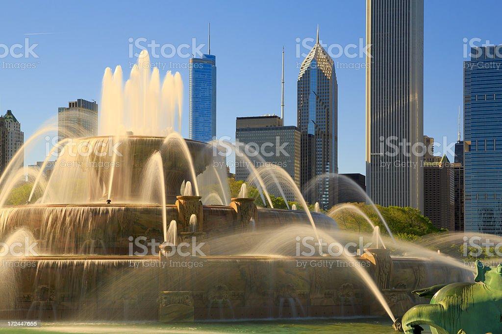 Buckingham Fountain, Chicago royalty-free stock photo