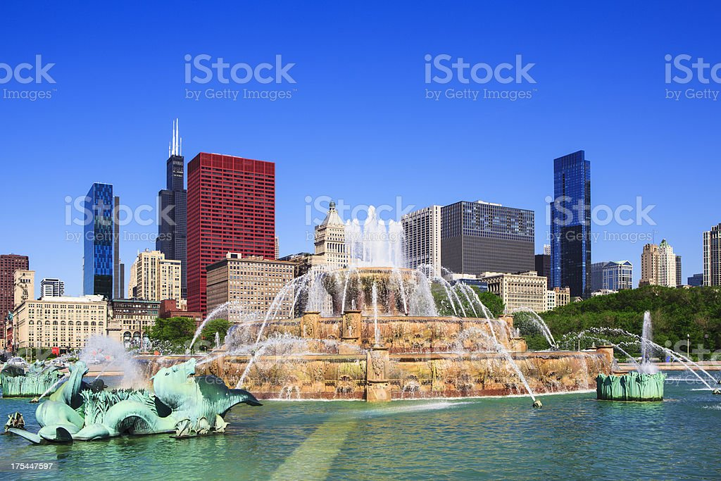 Buckingham Fountain, Chicago stock photo