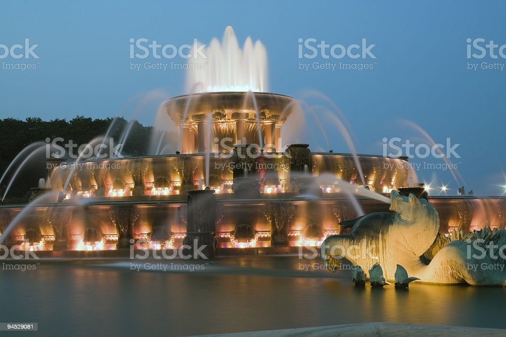 Buckingham Fountain in Chicago stock photo
