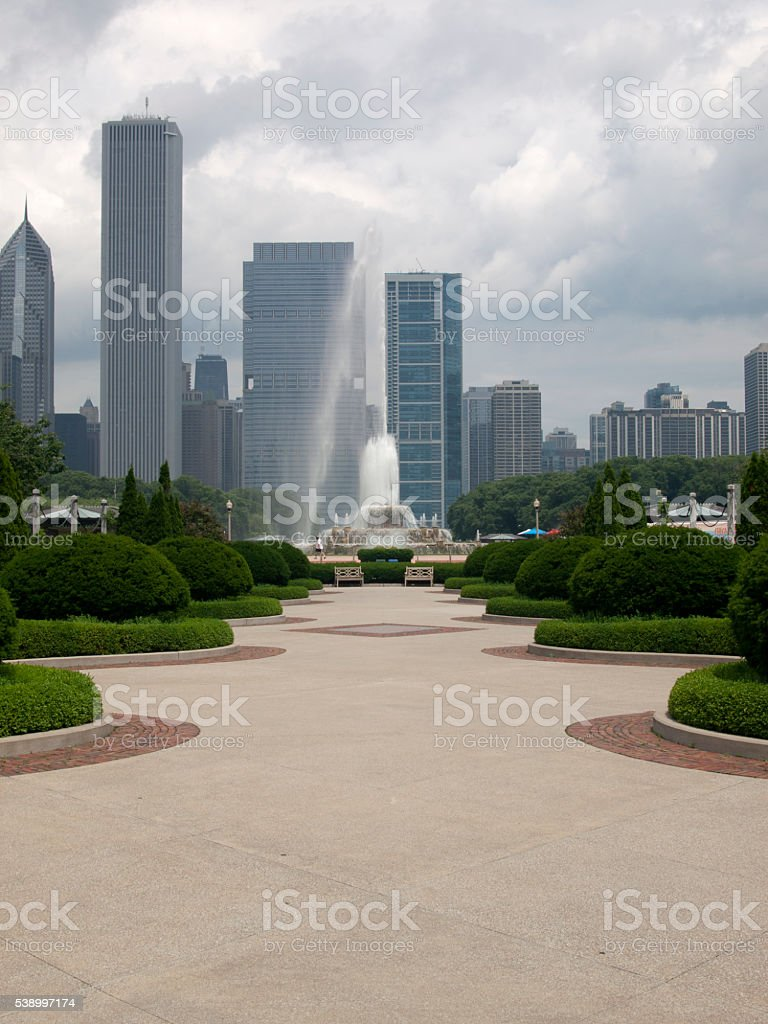 Buckingham Fountain stock photo