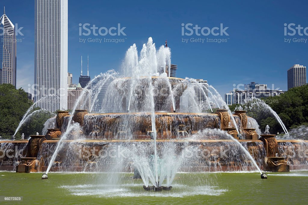 Buckingham Fountain royalty-free stock photo