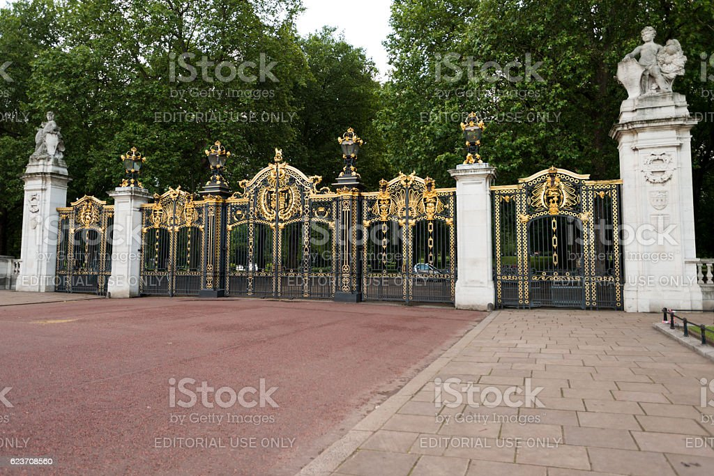 Buckingham Gates stock photo