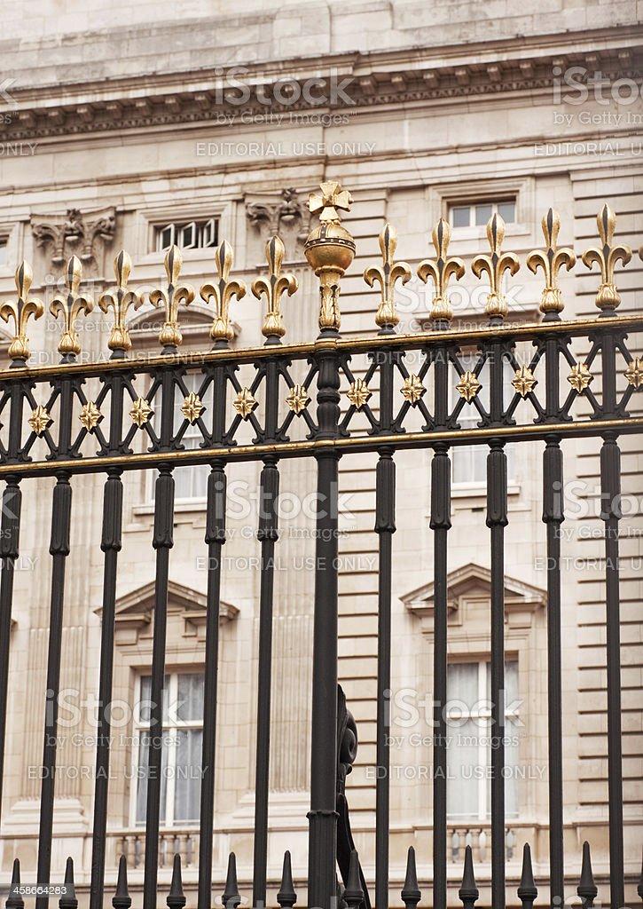 Buckingham Palace fence royalty-free stock photo