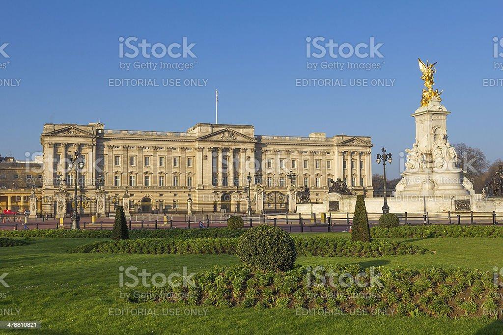 Buckingham Palace from afar stock photo