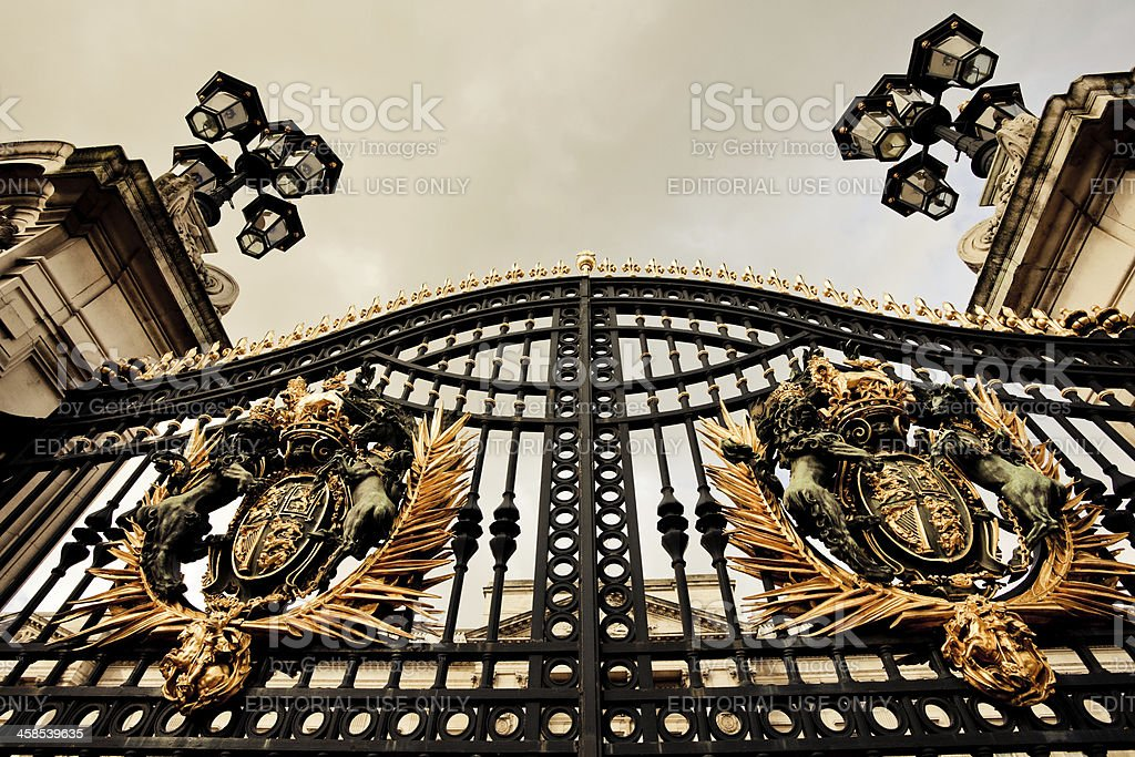 Buckingham Palace Gate, London royalty-free stock photo