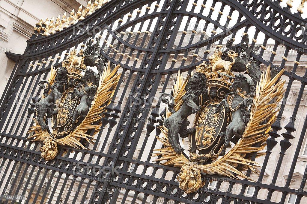 Buckingham Palace Gate royalty-free stock photo