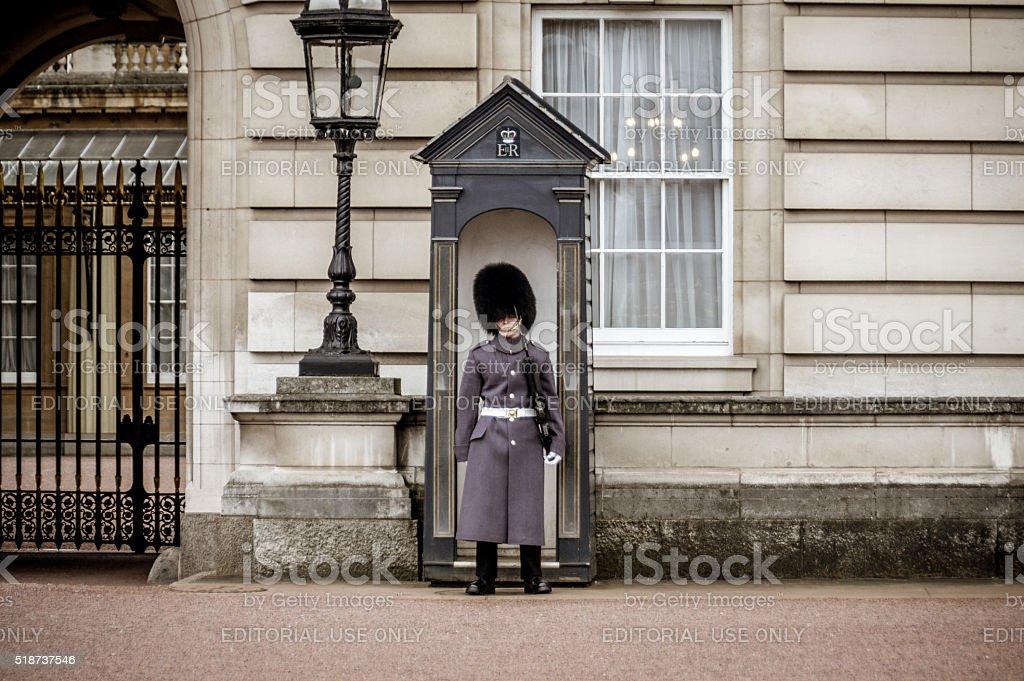Buckingham Palace Guard, London, UK stock photo
