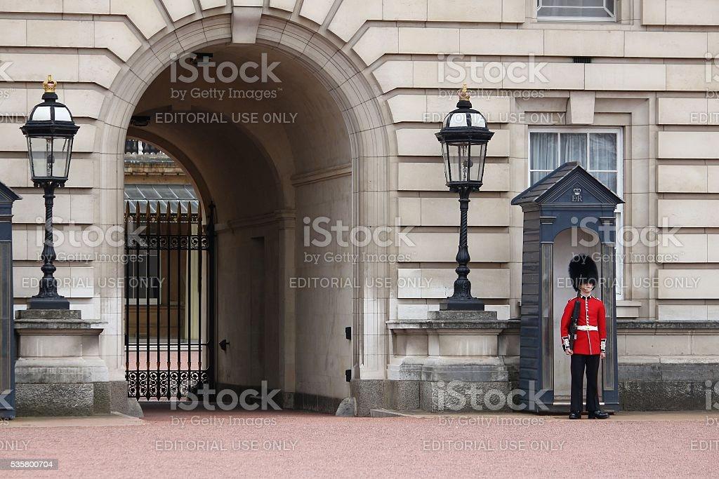 Buckingham Palace guard stock photo