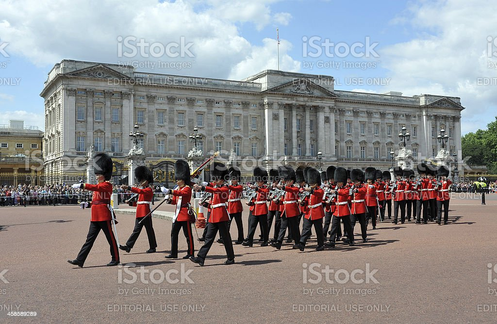 Buckingham Palace guards stock photo