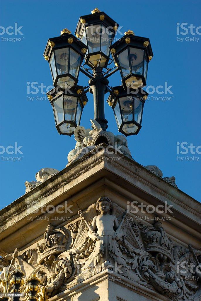 buckingham palace lamp stock photo