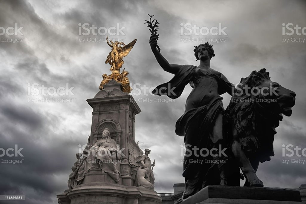 Buckingham Palace Memorial of Queen Victoria royalty-free stock photo