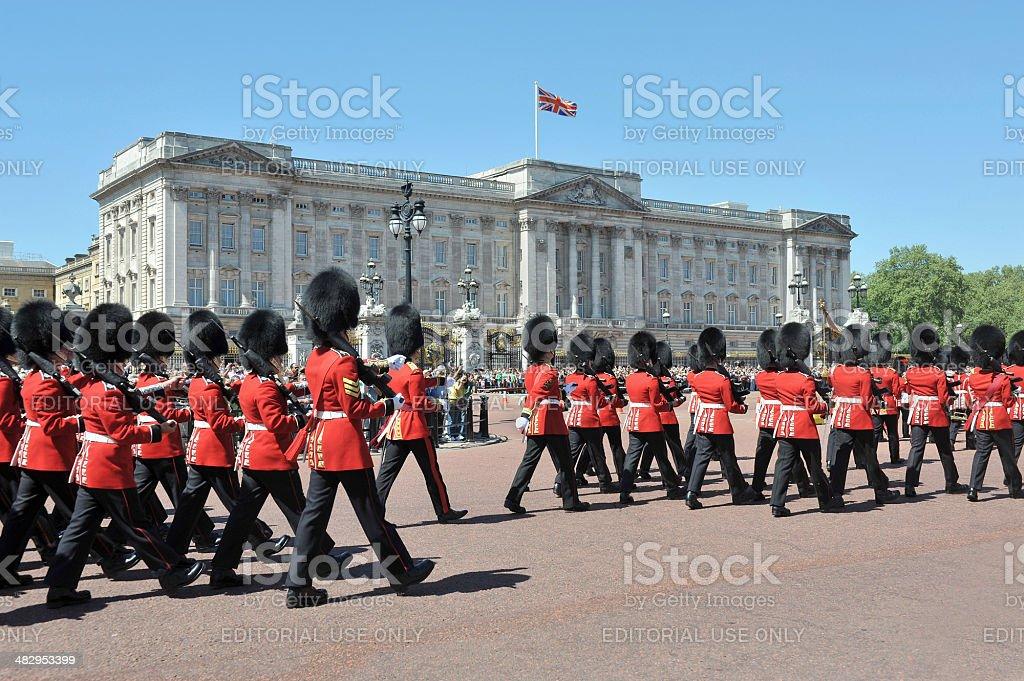 Buckingham Palace royalty-free stock photo