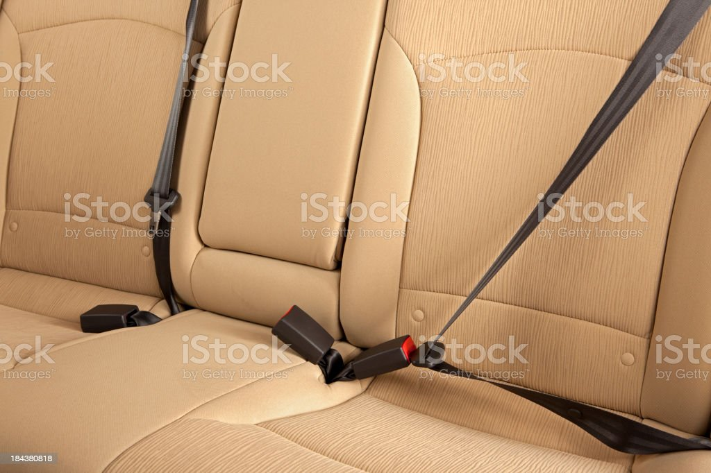 Buckle Up! Rear Seatbelts stock photo