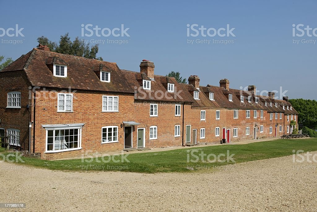 Bucklers Hard cottages stock photo