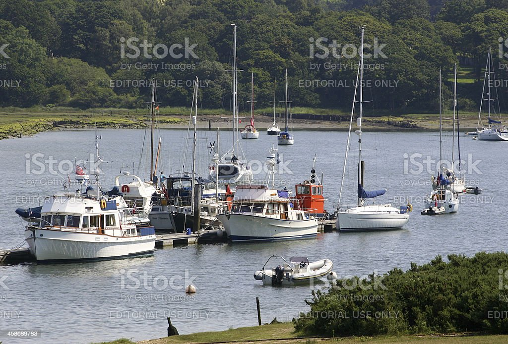 Buckler's Hard in Hampshire, England stock photo