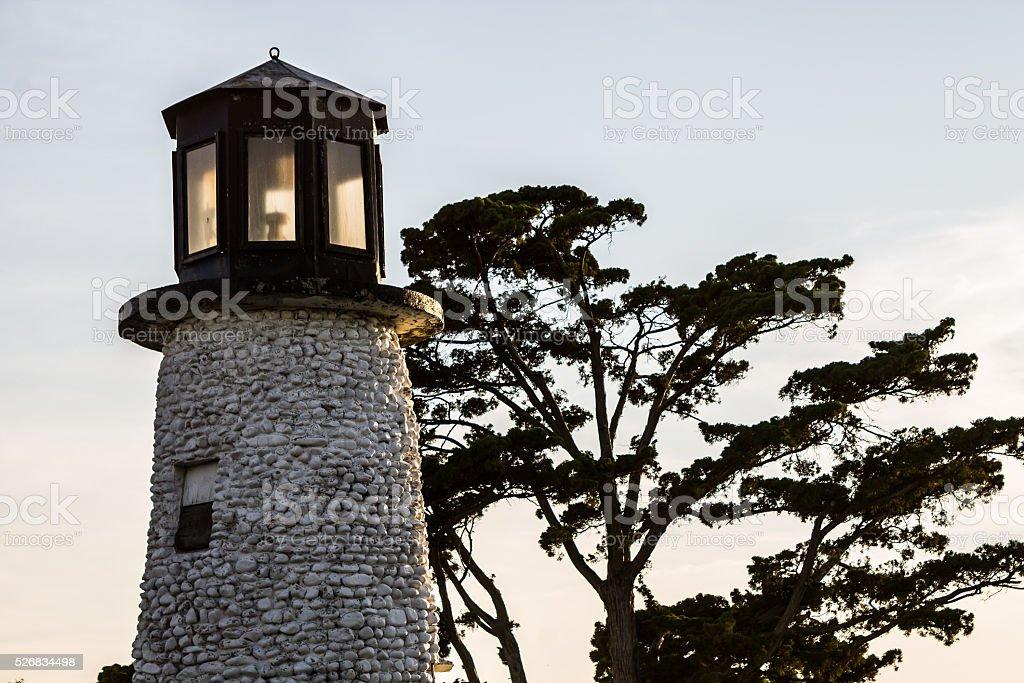 Buckroe Beach Lighthoust at Dusk stock photo