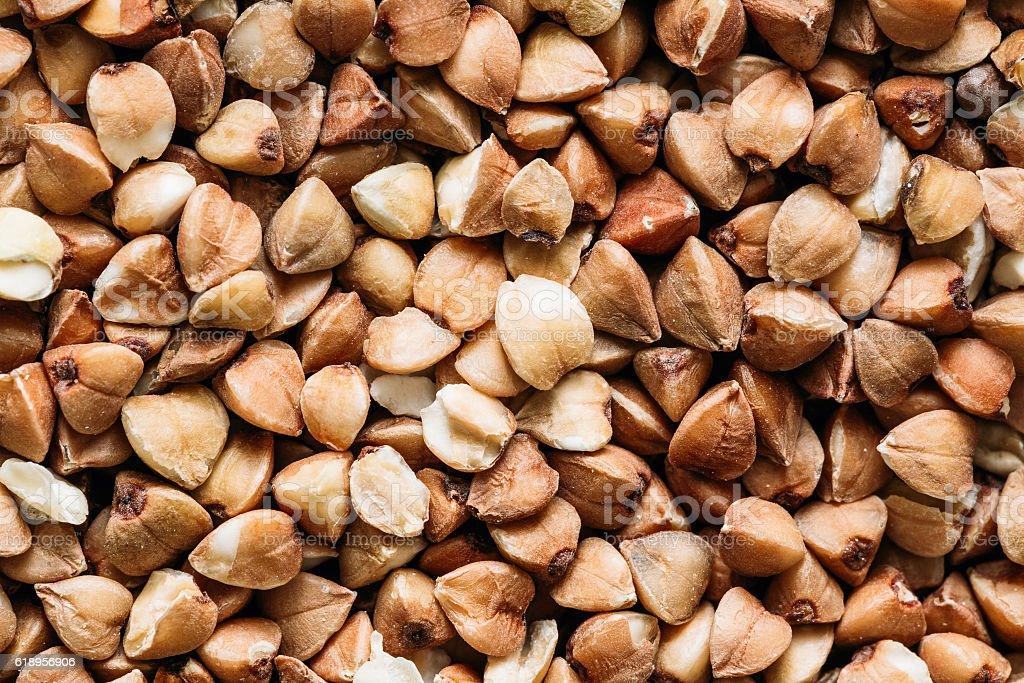 Buckwheat Background, Texture. Healthy Food. stock photo