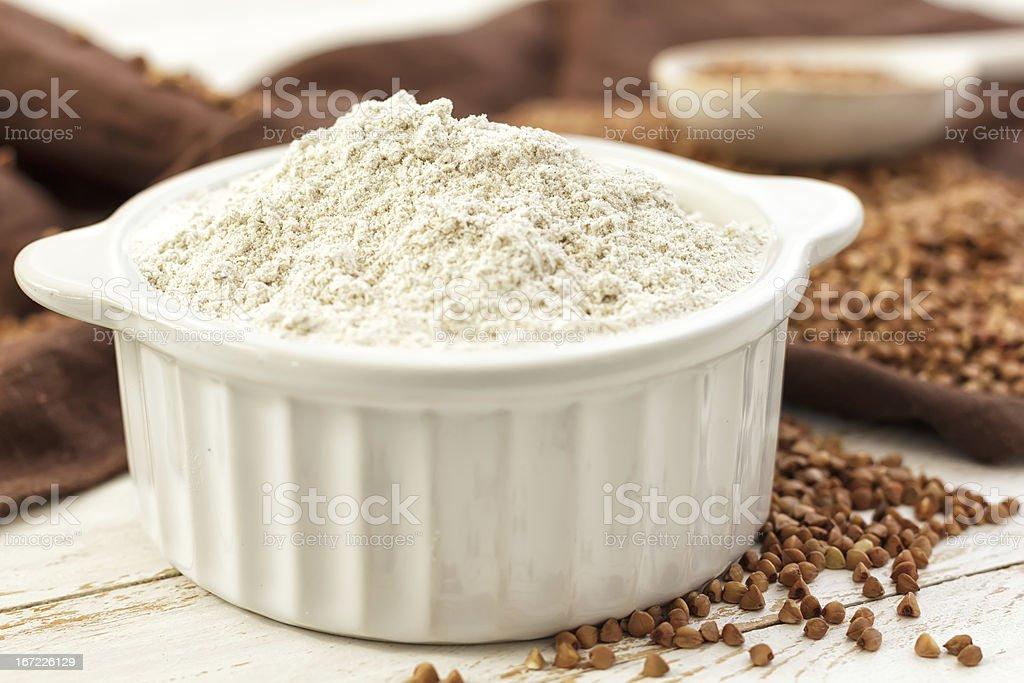 Buckwheat flour royalty-free stock photo