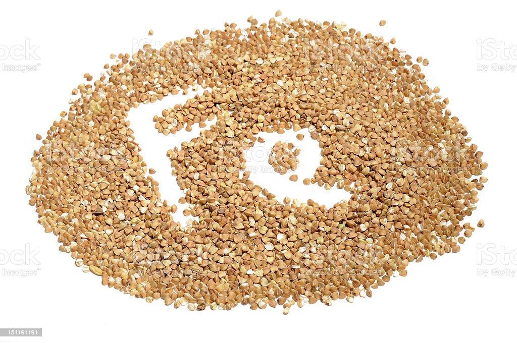 Buckwheat Groats - Good Source of Iron (Fe) royalty-free stock photo