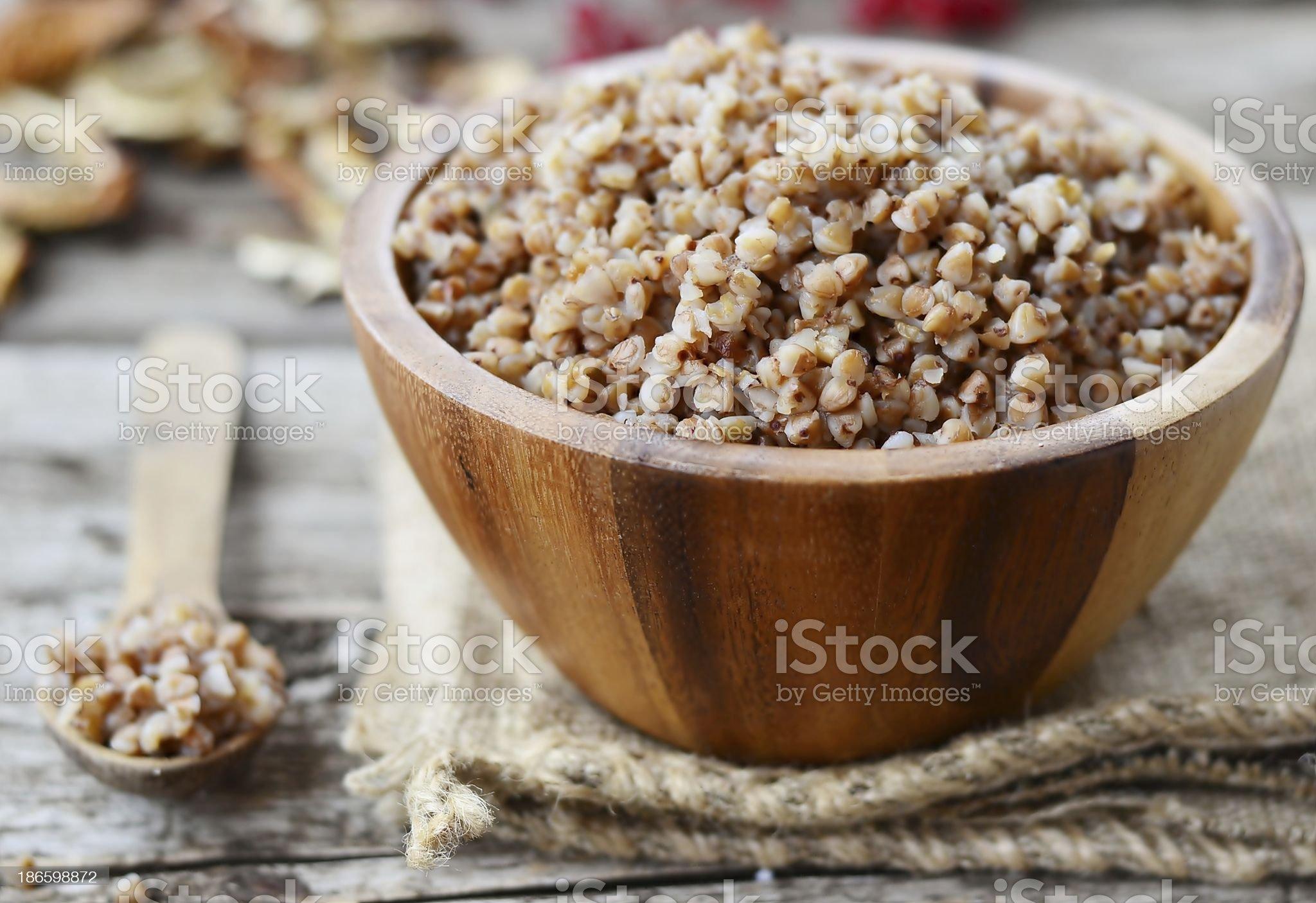 buckwheat groats. royalty-free stock photo