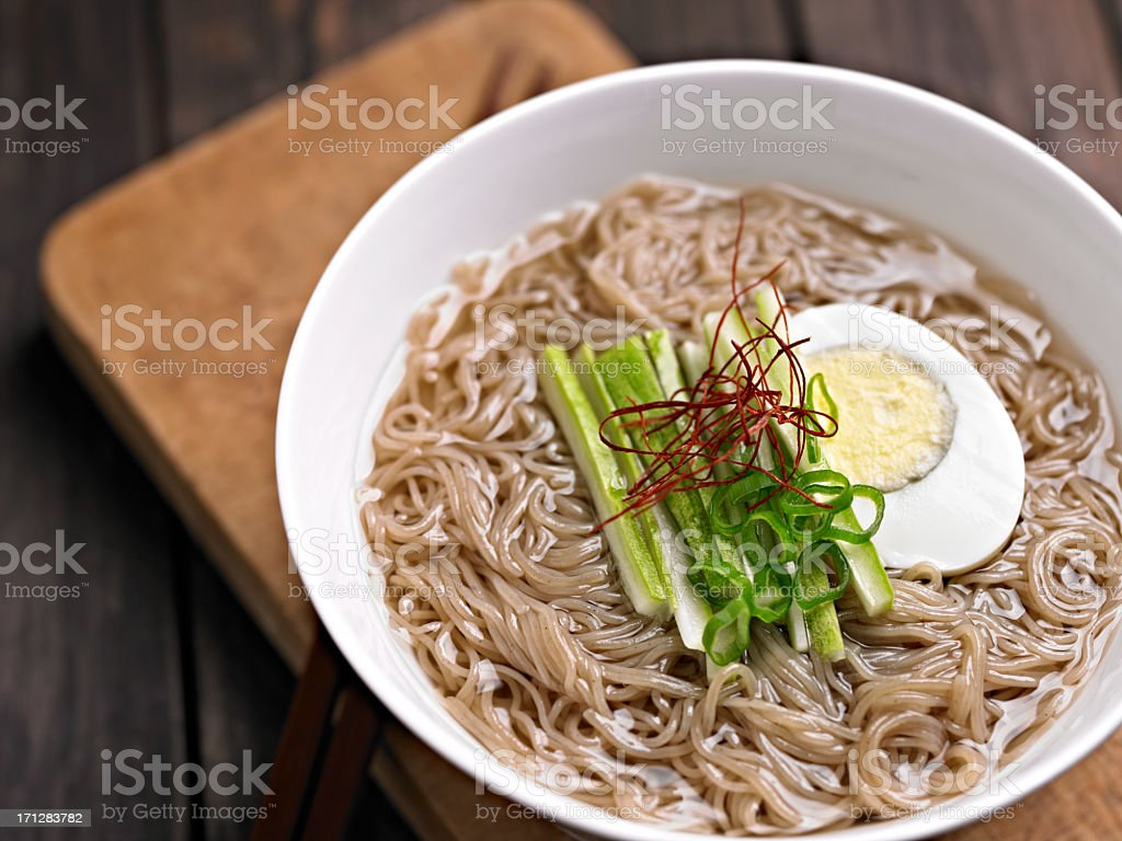 Buckwheat Noodle stock photo