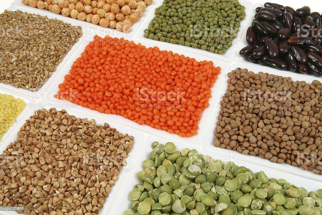 Buckwheat, peas, beans royalty-free stock photo