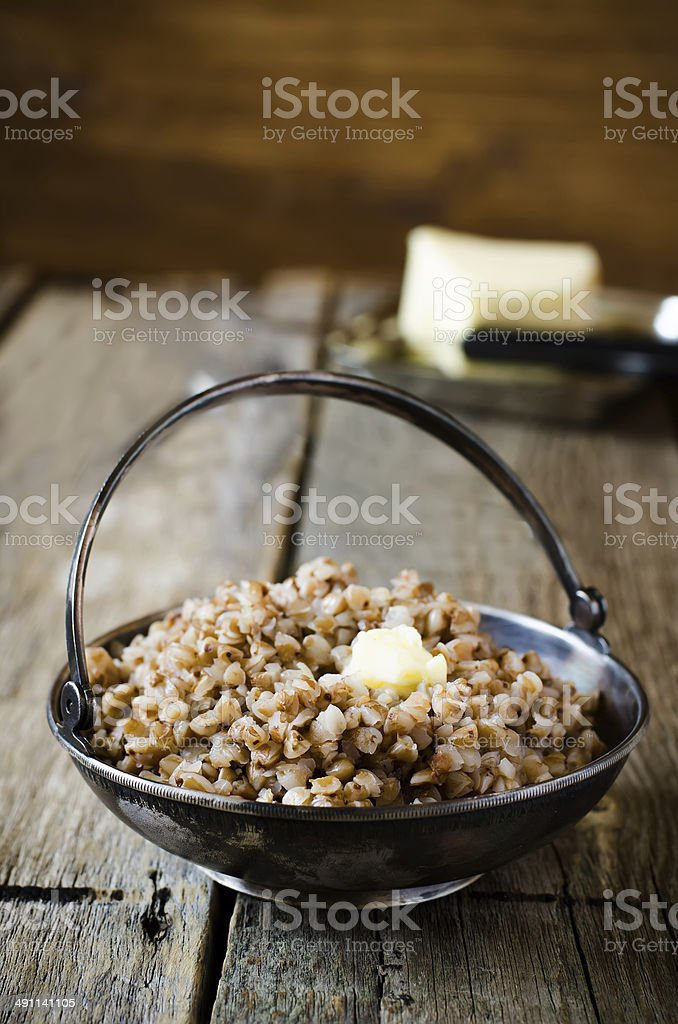 buckwheat porridge royalty-free stock photo