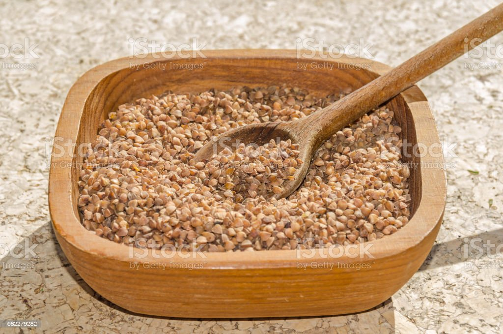 buckwheat seeds stock photo