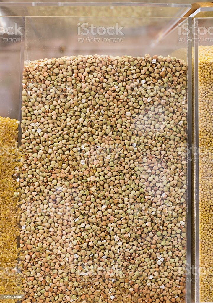 buckwheat shop stock photo