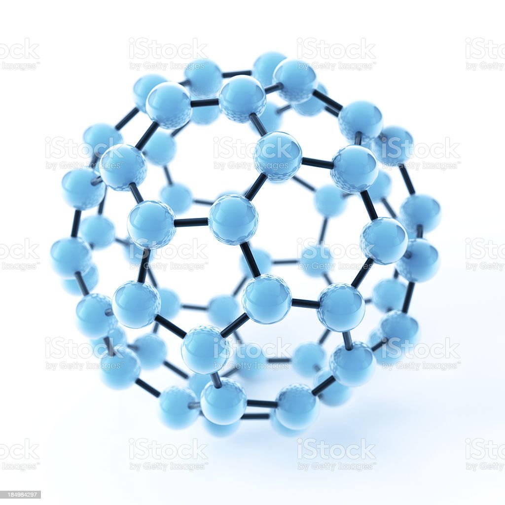 Buckyball Fullerene Molecule stock photo