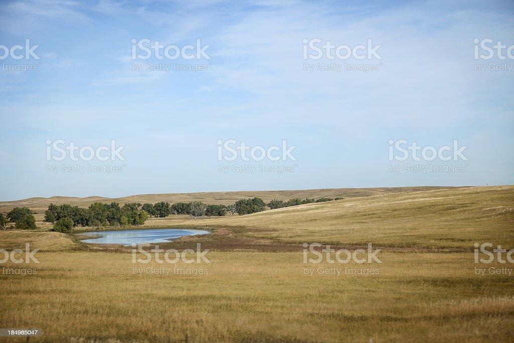 Bucolic Scene in South Dakota royalty-free stock photo