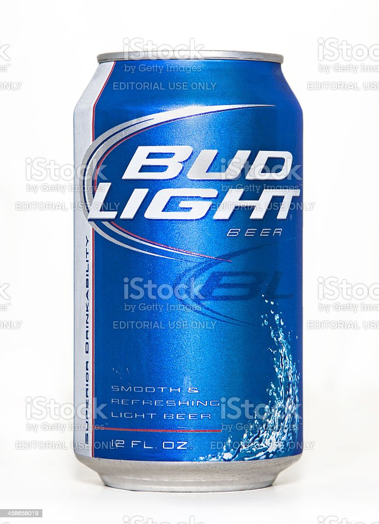 Bud Light Beer Can royalty-free stock photo