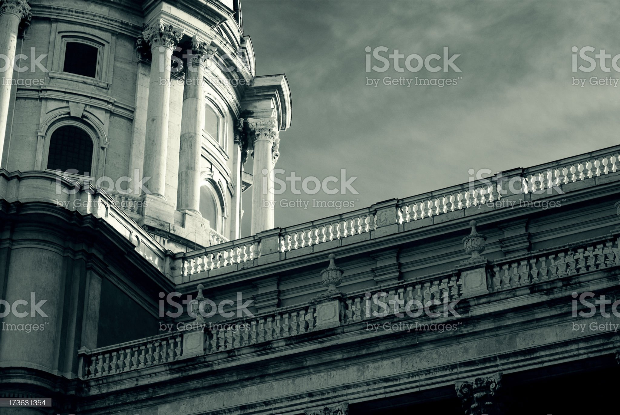 Buda castle 3 - Palace (monochrome) royalty-free stock photo