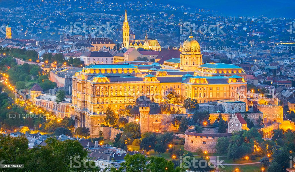 Buda Castle and Castle District Budapest Hungary stock photo
