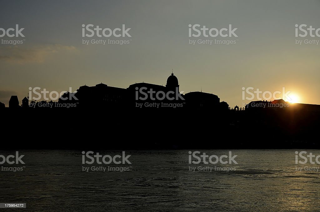 Buda Castle and King's palace in Budapest, Hungary royalty-free stock photo