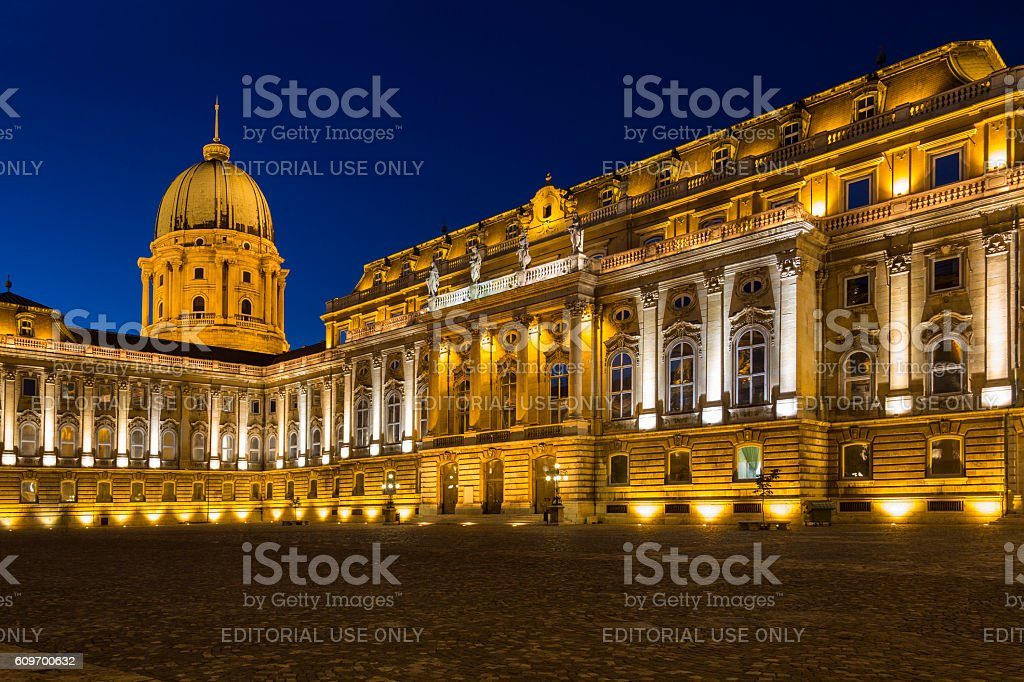 Buda Castle - Budapest - Hungary stock photo