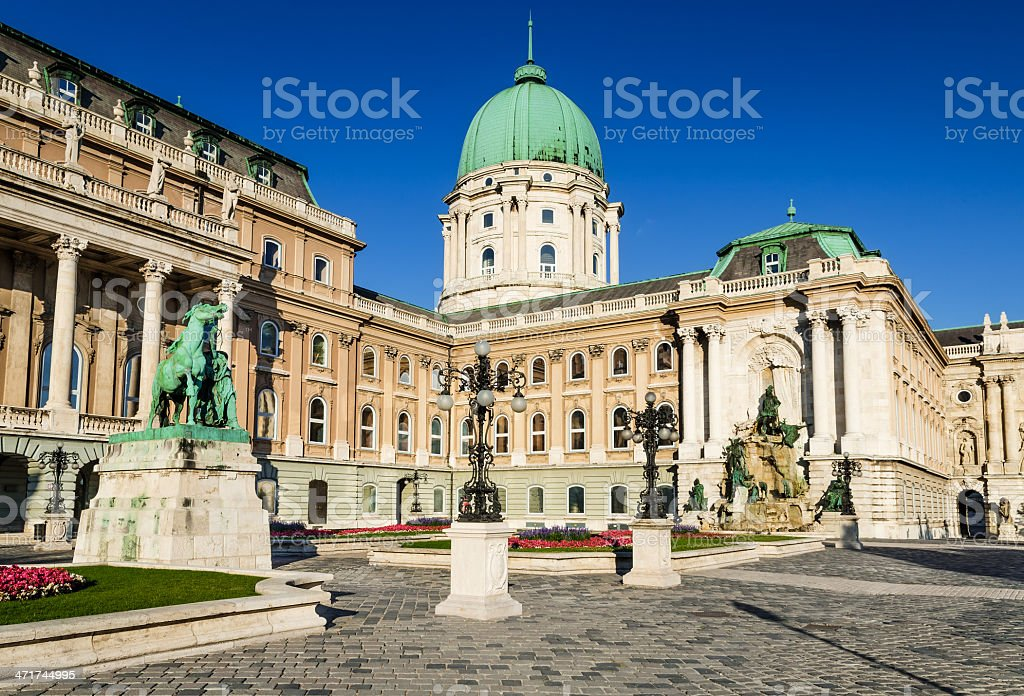 Buda Castle, Budapest stock photo